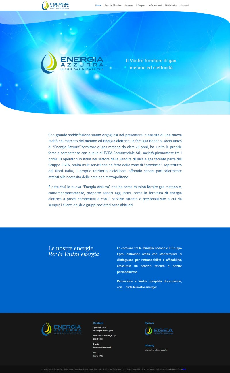 Energia Azzurra - Il Vostro fornitore di gas metano ed elettricità