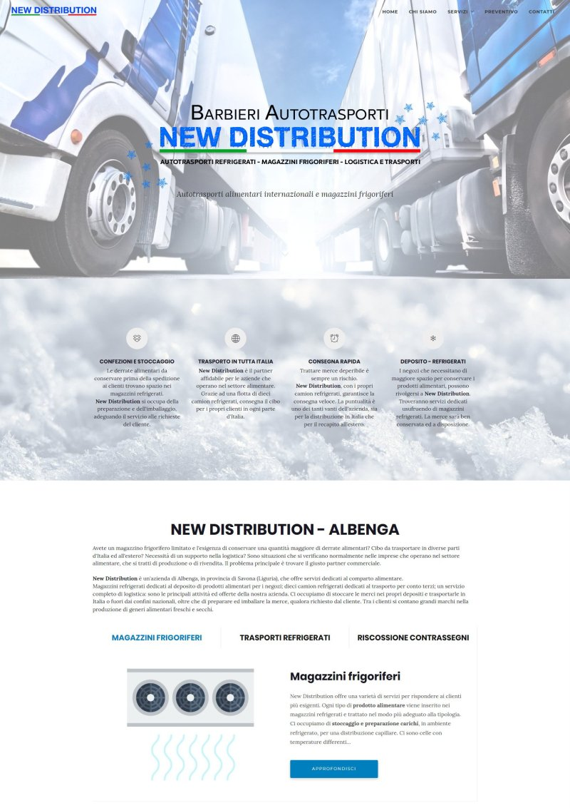 New Distribution - Albenga - Trasporti alimentari e magazzini frigoriferi